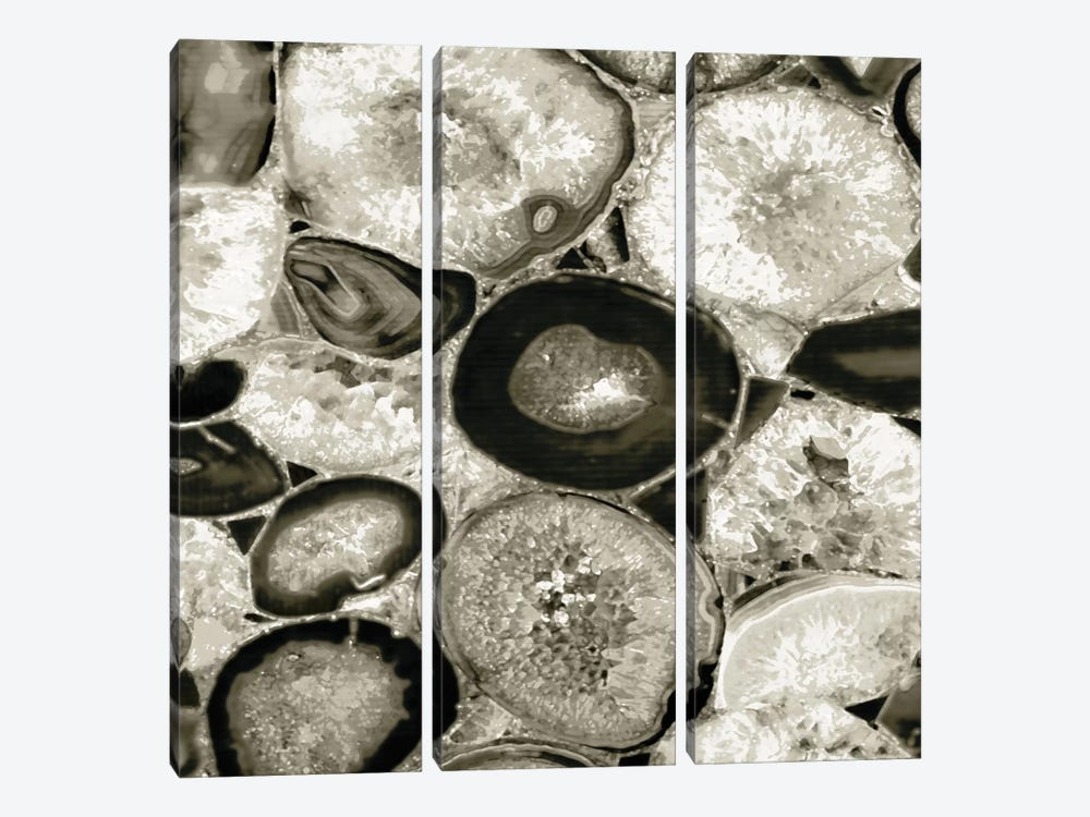 Agate In Pewter I by Danielle Carson 3-piece Canvas Print