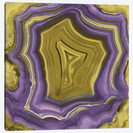 Agate In Purple & Gold I Canvas Print #DAC15} by Danielle Carson Canvas Art Print