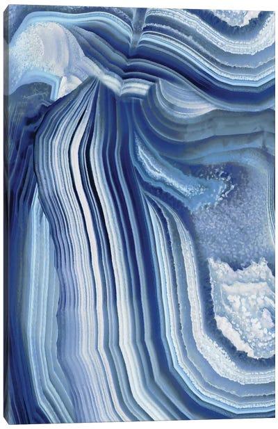 Agate Indigo II Canvas Print #DAC18