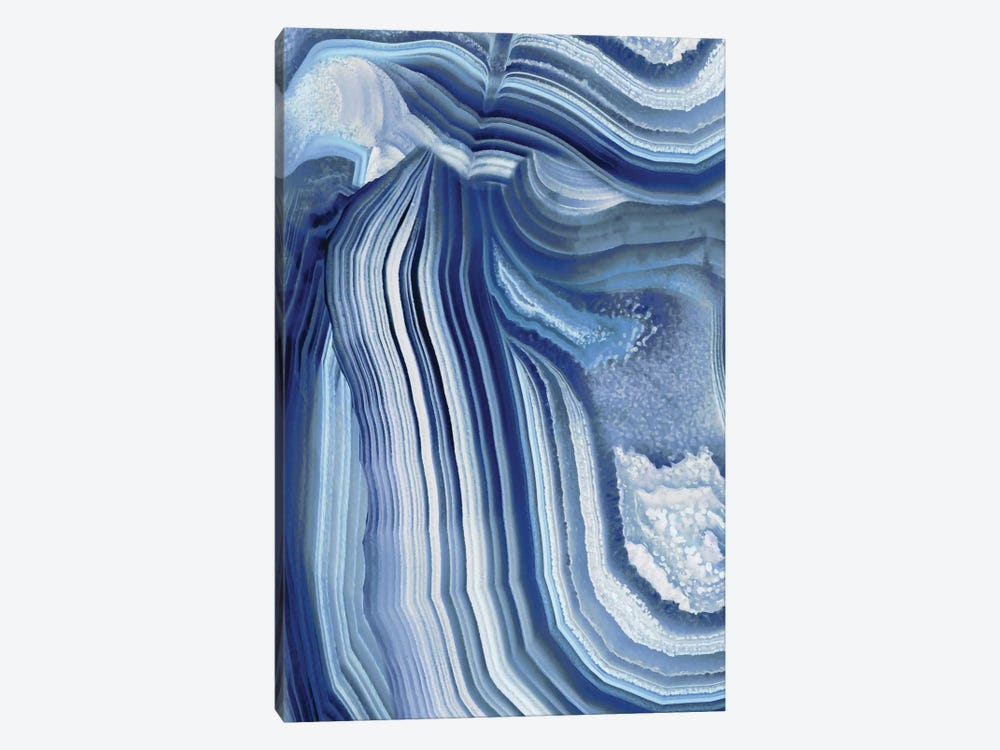 Agate Indigo II by Danielle Carson 1-piece Canvas Art