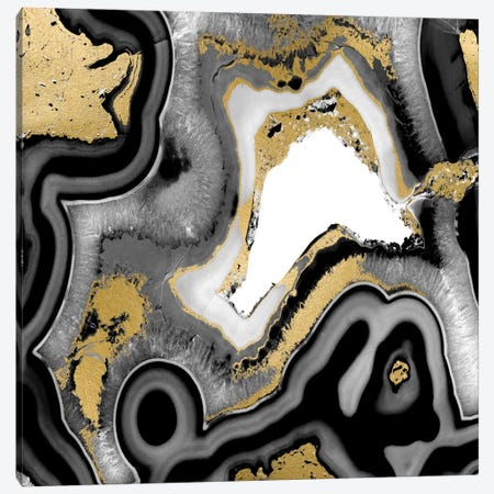 Agate Noir I Canvas Print #DAC19} by Danielle Carson Canvas Art