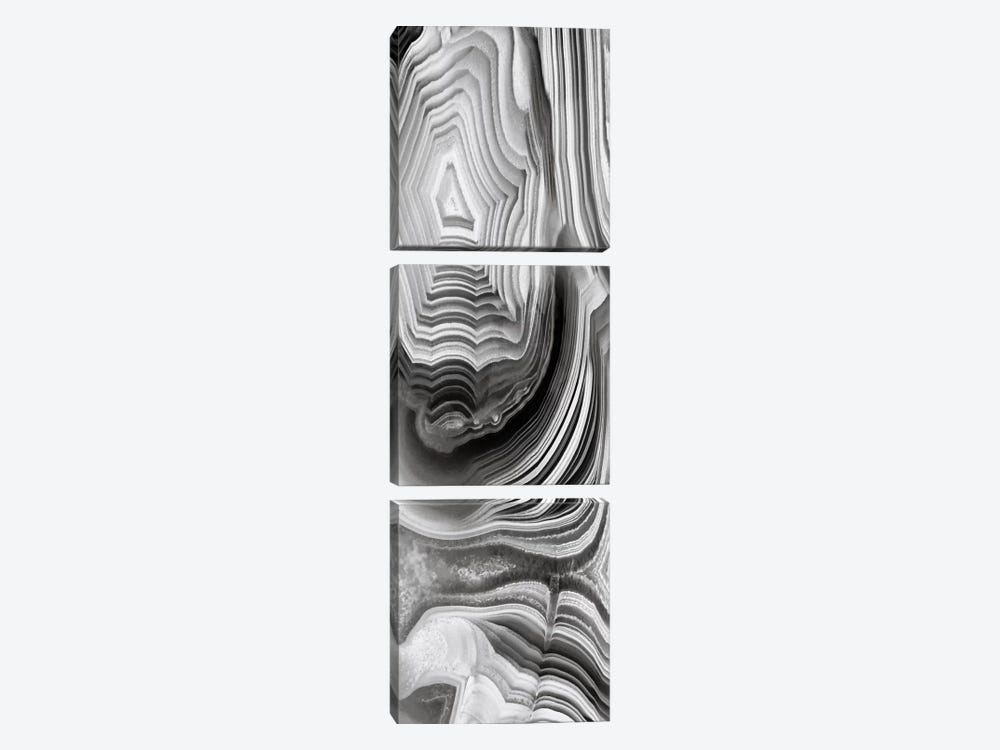Agate Panel Grey I by Danielle Carson 3-piece Canvas Art