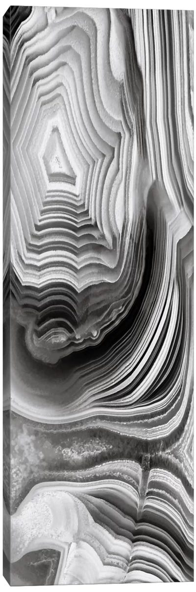 Agate Panel Grey I Canvas Art Print