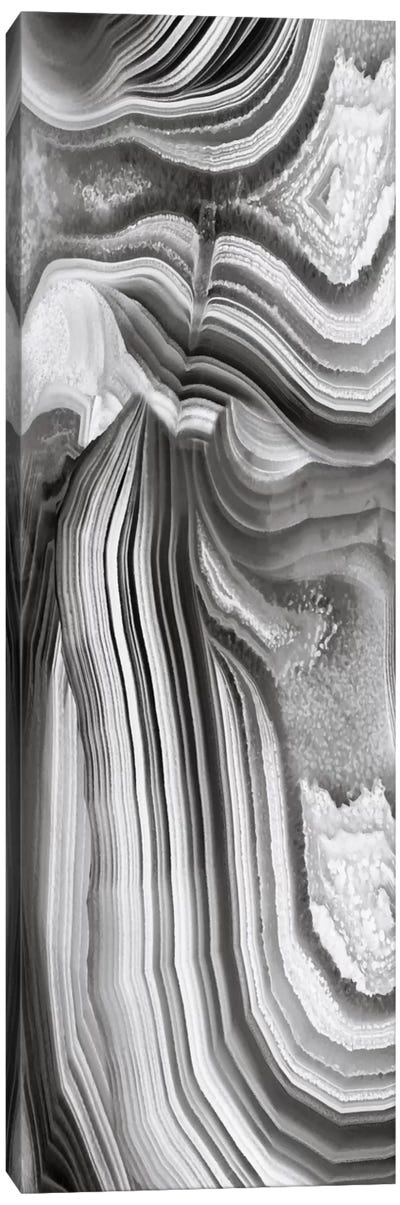 Agate Panel Grey II Canvas Art Print