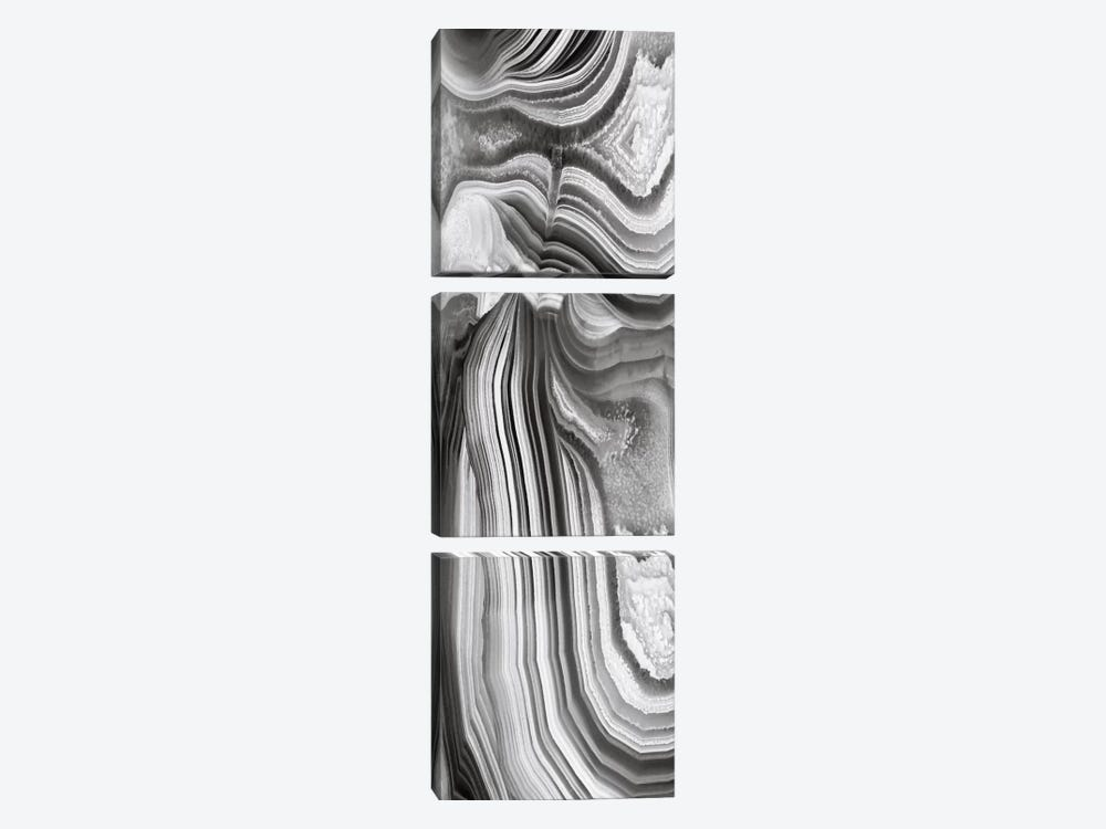 Agate Panel Grey II by Danielle Carson 3-piece Canvas Print