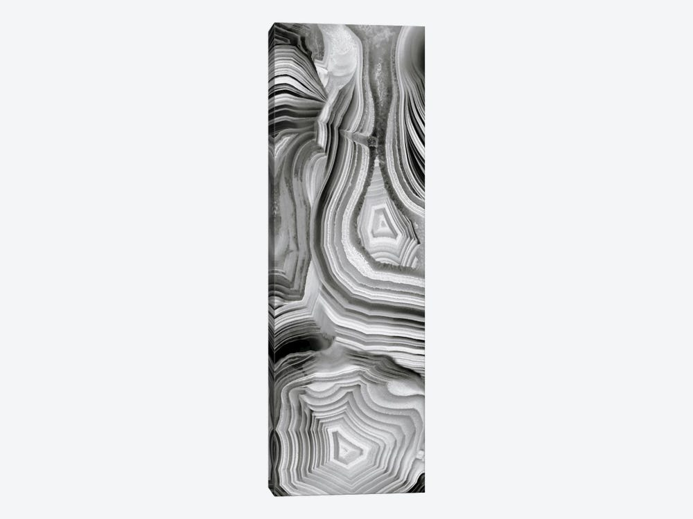 Agate Panel Grey III by Danielle Carson 1-piece Canvas Wall Art