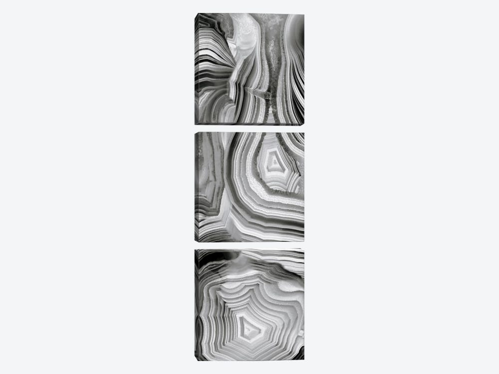 Agate Panel Grey III by Danielle Carson 3-piece Canvas Art