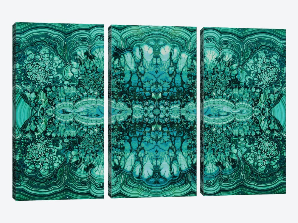 Majestic Malachite by Danielle Carson 3-piece Art Print