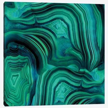 Malachite In Green And Blue Canvas Print #DAC28} by Danielle Carson Canvas Art Print