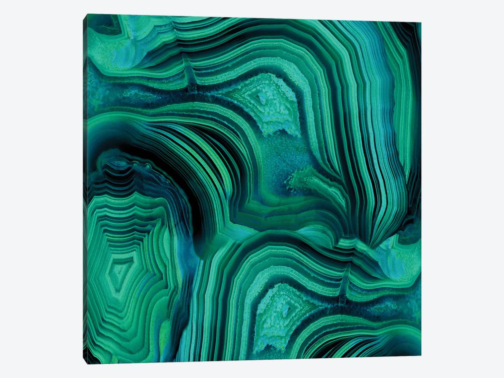 Malachite In Green And Blue by Danielle Carson 1-piece Canvas Art Print