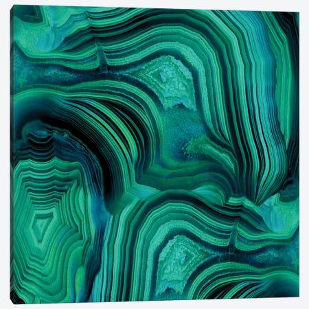 Malachite In Green And Blue Canvas Print #DAC28} by Danielle Carson Canvas Art Print