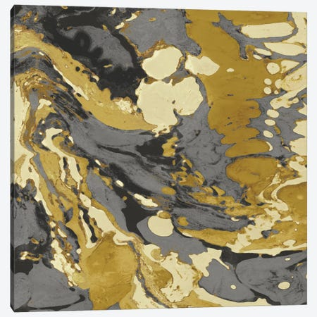 Marbleized In Gold And Grey II Canvas Print #DAC35} by Danielle Carson Canvas Print