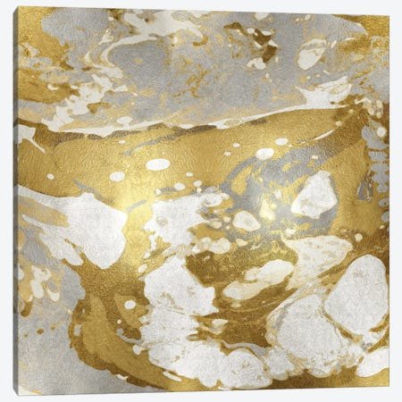 Marbleized In Gold And Silver Canvas Print #DAC36} by Danielle Carson Art Print