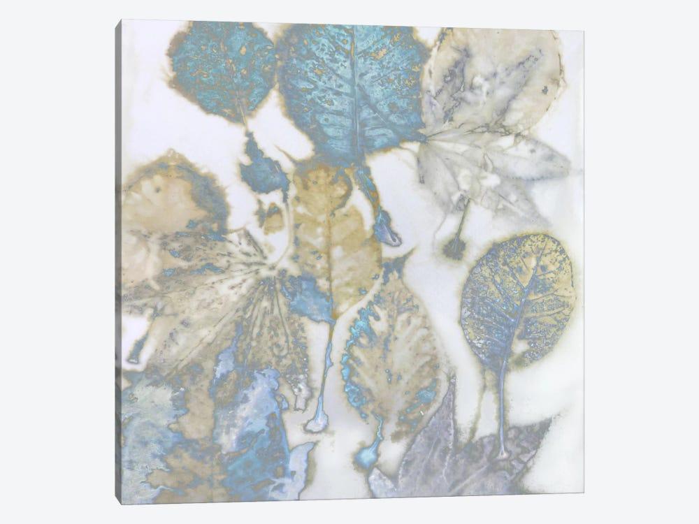 Aqua Leaves I by Danielle Carson 1-piece Canvas Artwork