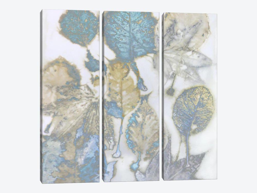 Aqua Leaves I by Danielle Carson 3-piece Canvas Wall Art