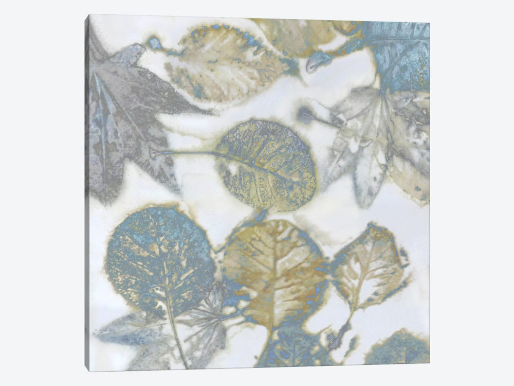 Aqua Leaves II by Danielle Carson 1-piece Canvas Print