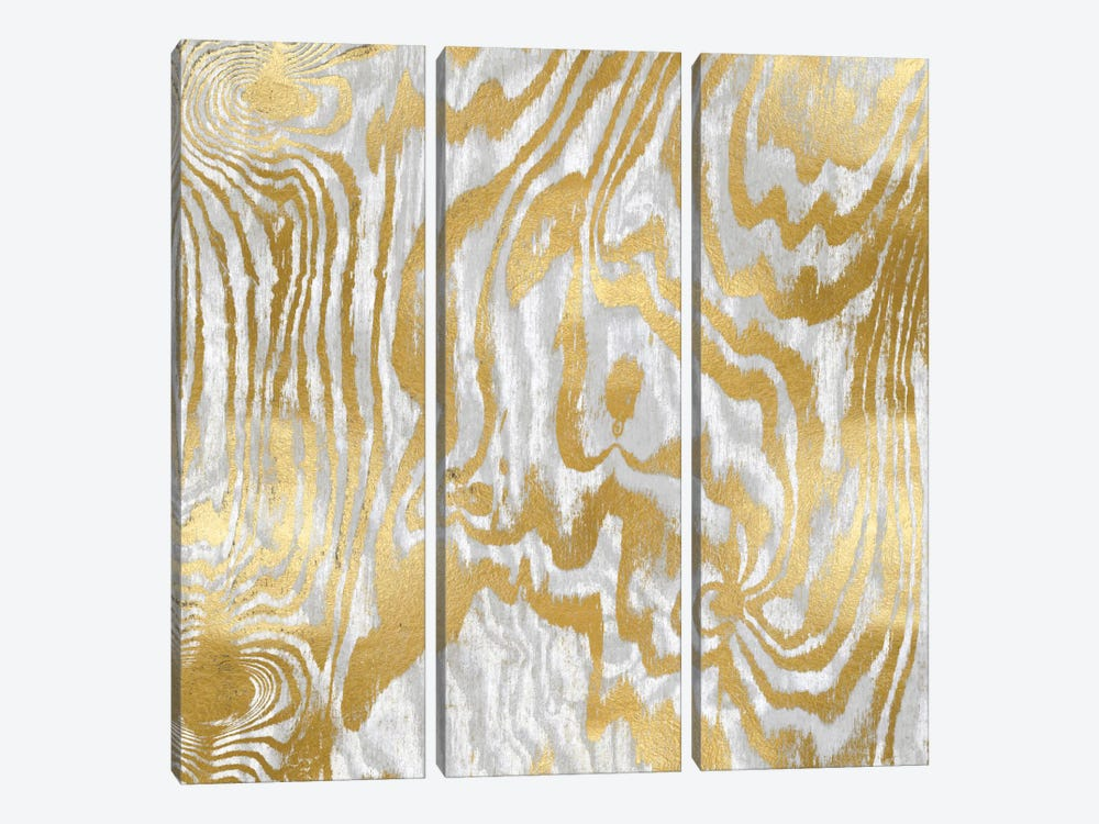Gold Variations II by Danielle Carson 3-piece Canvas Print
