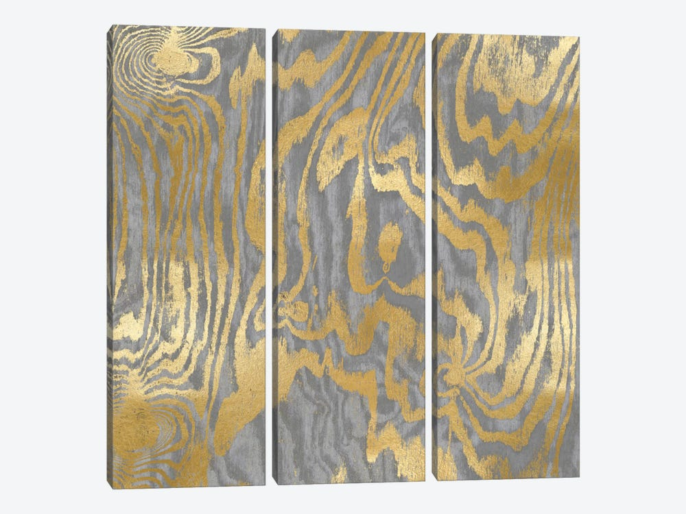 Gold Variations IV by Danielle Carson 3-piece Canvas Print