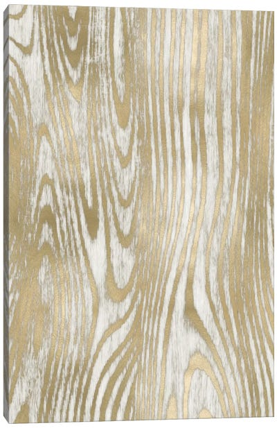 Gold Wood Grain I Canvas Art Print