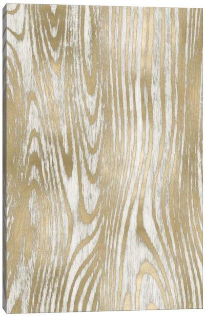 Gold Wood Grain I Canvas Art Print