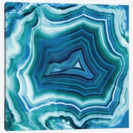 Agate In Aqua Canvas Print #DAC4} by Danielle Carson Art Print