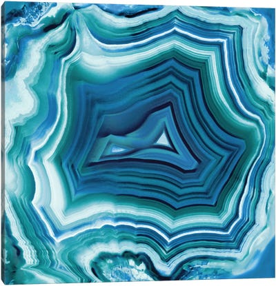Agate In Aqua Canvas Art Print