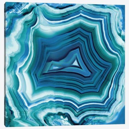 Agate In Aqua Canvas Print #DAC4} by Danielle Carson Art Print