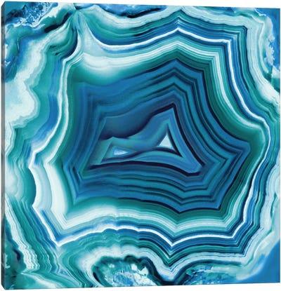 Agate In Aqua Canvas Art Print