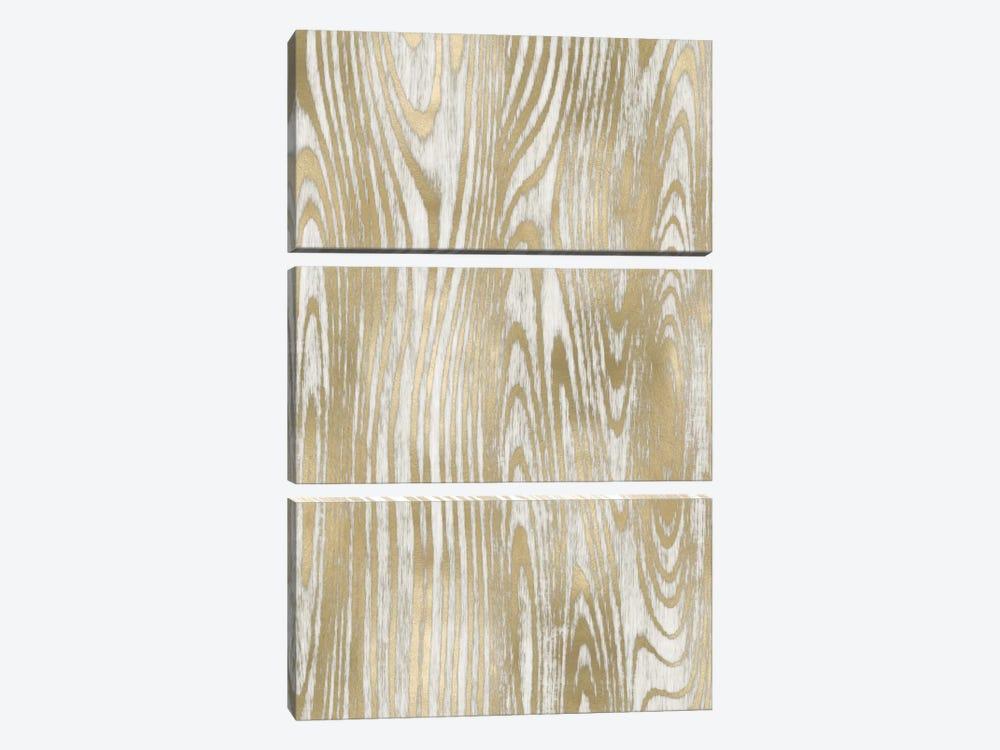 Gold Wood Grain II by Danielle Carson 3-piece Canvas Wall Art