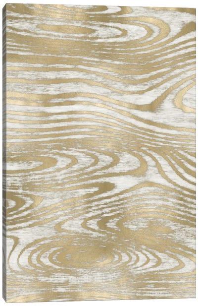 Gold Wood Grain III Canvas Art Print
