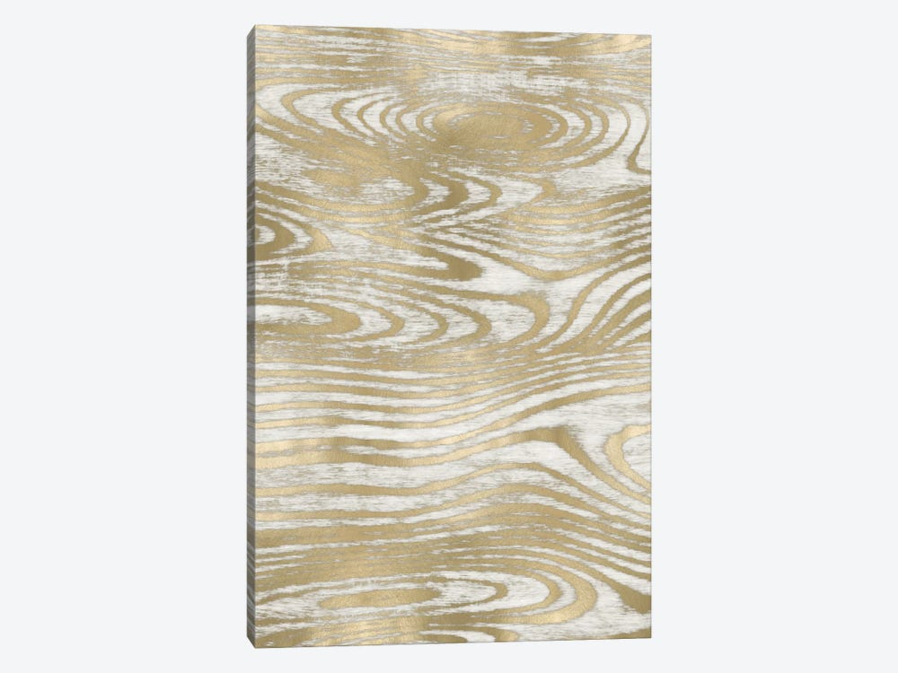 Gold Wood Grain IV by Danielle Carson 1-piece Canvas Art