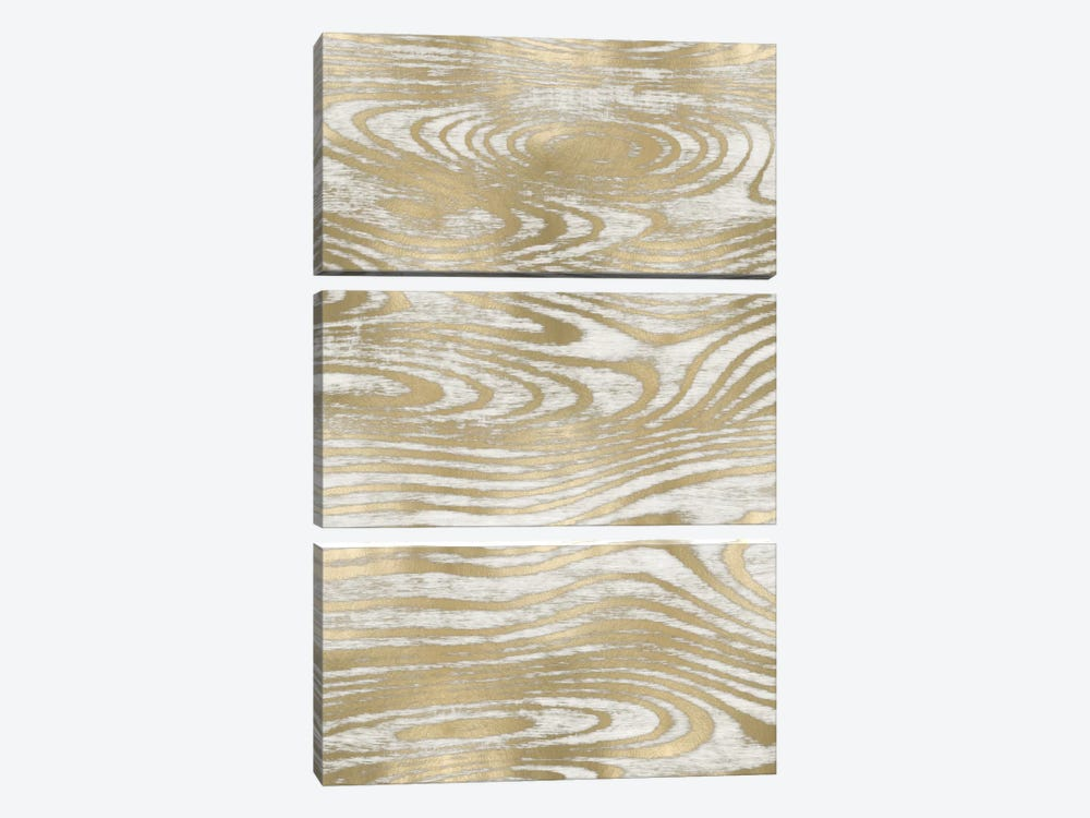 Gold Wood Grain IV by Danielle Carson 3-piece Canvas Wall Art