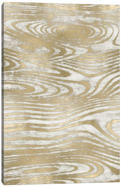 Gold Wood Grain IV Canvas Art Print