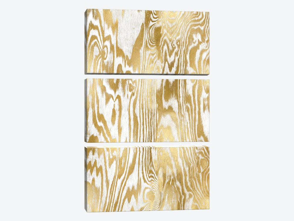 Golden Movement II by Danielle Carson 3-piece Canvas Artwork