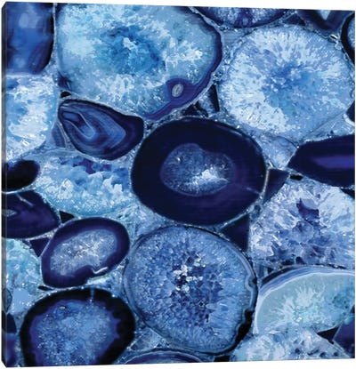 Agate In Blue I Canvas Print #DAC5