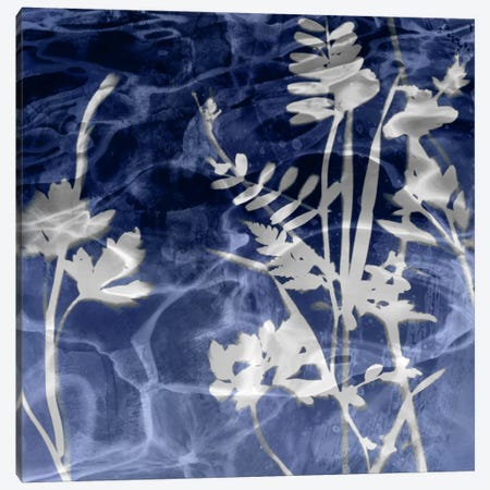 Indigo Leaves I Canvas Print #DAC61} by Danielle Carson Art Print