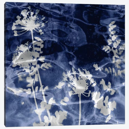 Indigo Leaves II Canvas Print #DAC62} by Danielle Carson Art Print