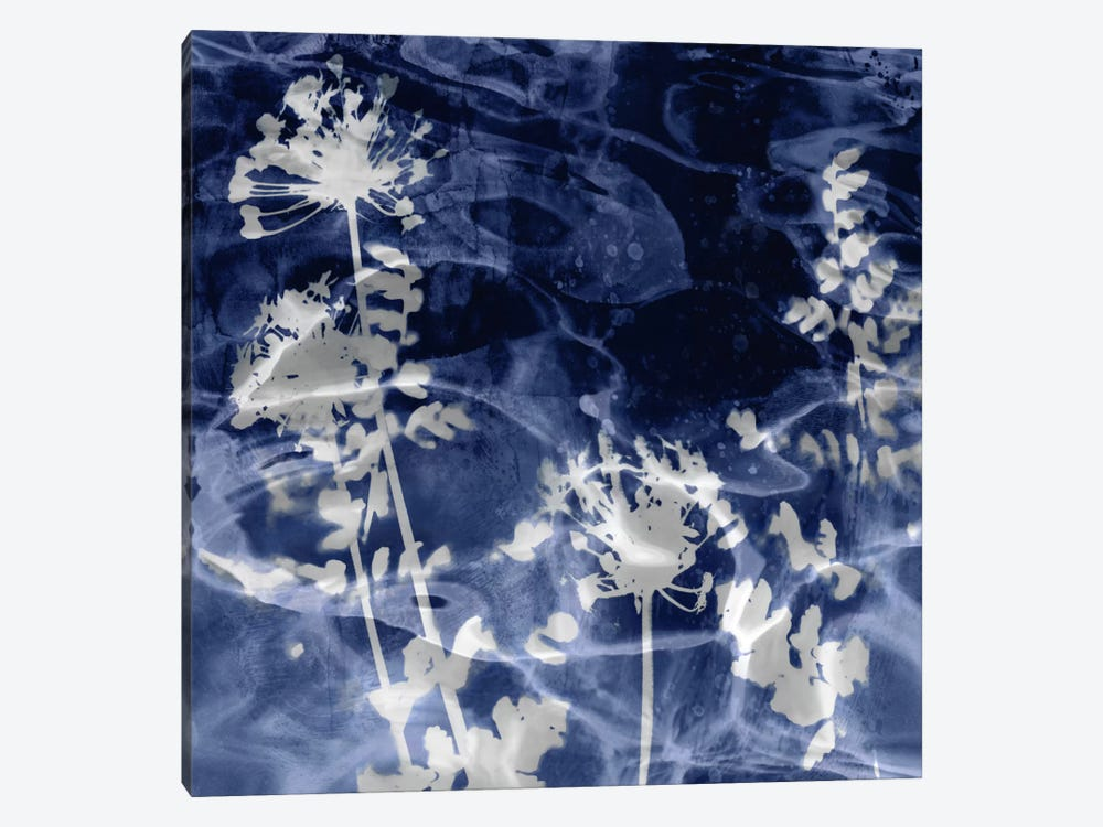 Indigo Leaves II by Danielle Carson 1-piece Art Print