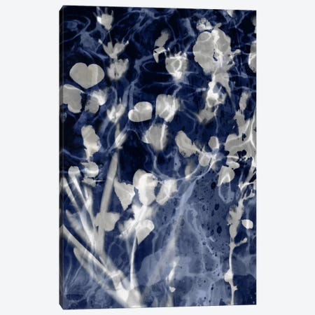 Indigo Leaves III Canvas Print #DAC63} by Danielle Carson Art Print