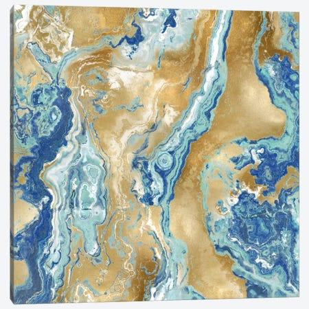 Onyx Aqua Canvas Print #DAC68} by Danielle Carson Art Print