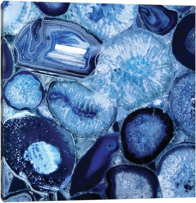 Agate In Blue II Canvas Art Print