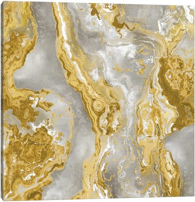 Onyx Golden Canvas Art Print