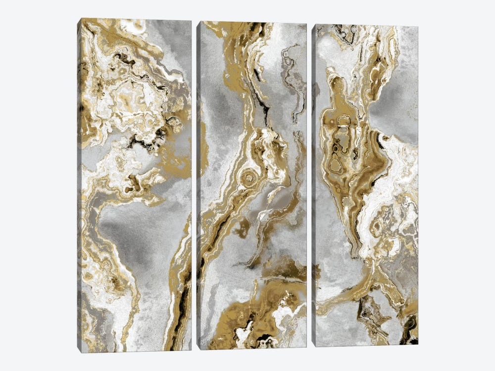Onyx Silver by Danielle Carson 3-piece Canvas Art