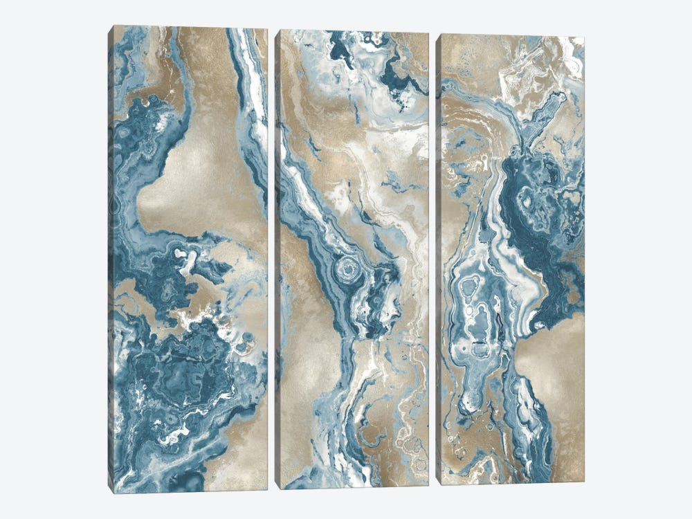 Onyx Teal by Danielle Carson 3-piece Canvas Print