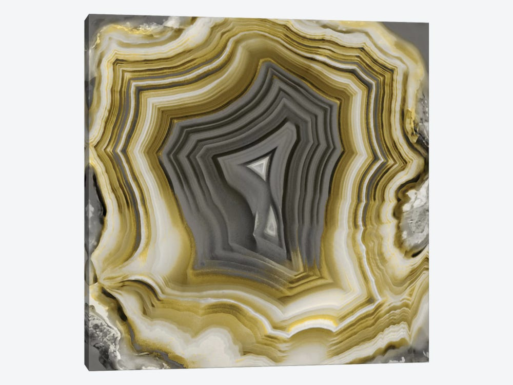 Agate In Gold & Grey II by Danielle Carson 1-piece Canvas Art Print
