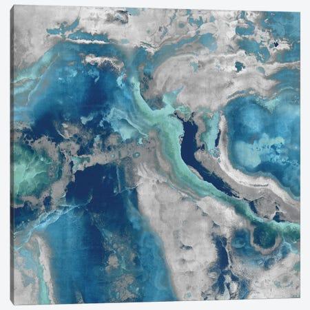 Stone With Blue And Aqua Canvas Print #DAC95} by Danielle Carson Canvas Print