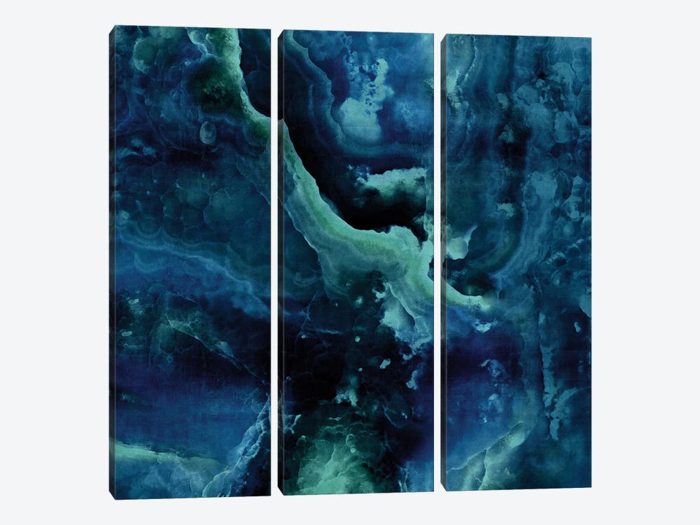 Stone With Blue And Green by Danielle Carson 3-piece Art Print