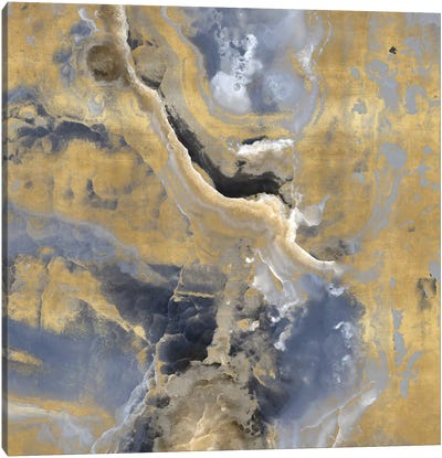 Stone With Gold And Gray I Canvas Art Print