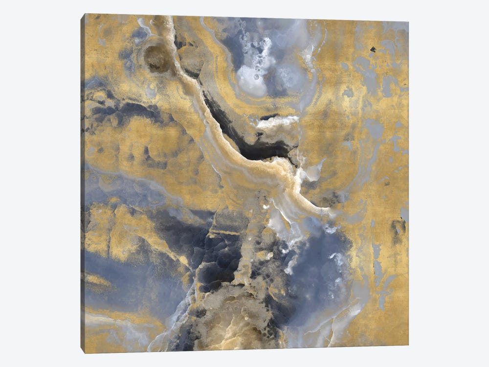 Stone With Gold And Gray I by Danielle Carson 1-piece Canvas Art