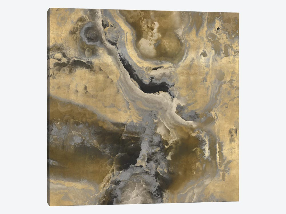 Stone With Gold And Gray II by Danielle Carson 1-piece Art Print
